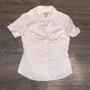 Banana Republic Pink Collared Shirt
